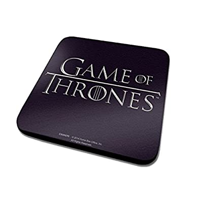 Game Of Thrones Classic Logo Official New Black Coaster (10cm x 10cm)