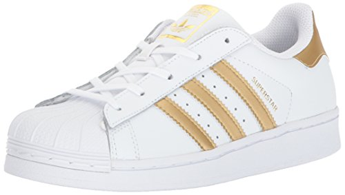 timeless design d962b 0ecfc adidas Superstar C - Zapatillas para niño Blanco White Gold Metallic Blue