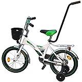 """Clamaro Kinderfahrrad """"Rookie"""" inkl. Stützräder, Schiebestange und Körbchen, Kinder Fahrrad mit höhenverstellbarem Sitz und Lenker - wählbar in 2 Modellen und 3 Farben (ACHTUNG B-Ware)"""