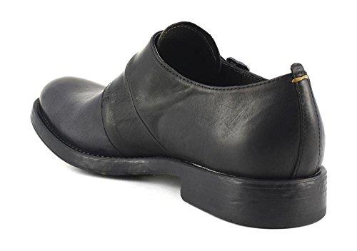 Cafè Noir CAF NOIR RH102 chaussures noires derby homme en cuir classique et élégant boucles I16.010 NERO