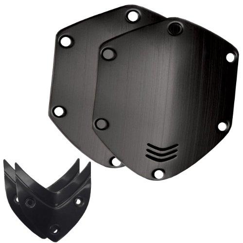 V-MODA Crossfade Over-Ear Headphone Metal Shield Kit - Brushed Black (Vmoda Custom)