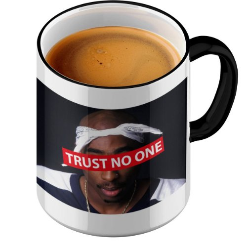 Funtasstic Tasse Trust No One - Kaffeepott Kaffeebecher by StyloTex (Thug-kaffee-tasse)