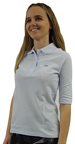 Lacoste PF5381 Klassisches Damen Polo, Polohemd, Polo-Shirt mit 3/4 Arm, Kurzarm, Regular Fit, für Freizeit und Sport, 100% Baumwolle Rill T01