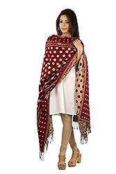 Rama Printed Red & Beige Woolen Shawl