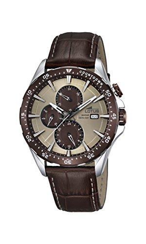 Lotus Herren Analog Quarz Uhr mit Leder Armband 18312/2