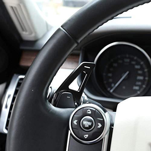 Alliage d'aluminium Volant Accessoires de Voiture de Changement de Vitesse de Volant pour Discovery Sport LR 4 5 Evoque Vogue Velar Noir