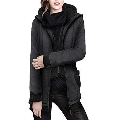 Toasye Ausverkauf Frauen Winter Langarm Lässig Mit Kapuze Mock Zweiteilige Einfarbig Sweatshirt Jacke