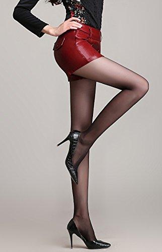 Helan Donna Bottoni Breve doppio di modo di cuoio sottile Gonne Rosso