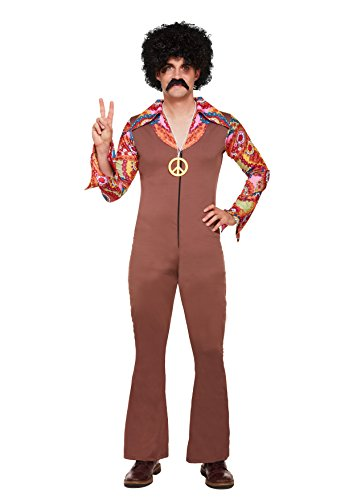 Ausgefallenes Hippie-Kostüm, 70er-Jahre, für Herren (Einheitsgröße)