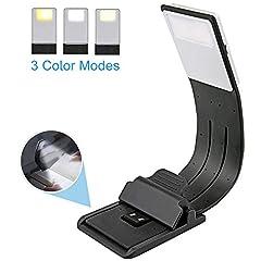 Idea Regalo - EasyULT Lampada da Lettura USB Ricaricabile, Luce Lettura Notturna, 3 Luminosità Modalità Regolabile, Flessibile a 360 °, Lampada da Libro per Libri, Viaggio etc.[Classe di efficienza energetica A]