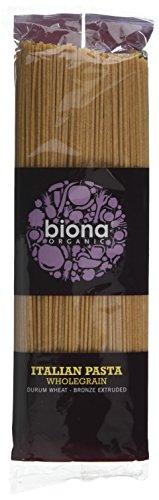 Biona Organic Wheat Pasta Wholegrain Spaghetti 500g (Pack of 12