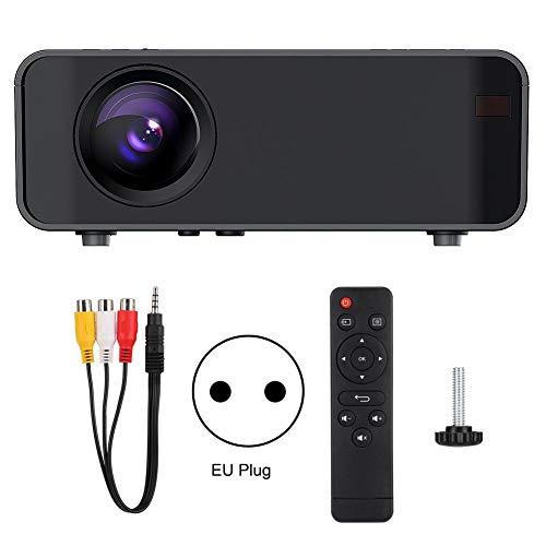 LanLan Proiettore Portatile,Ultramini Proiettore DLP Proiettore Full HD Mini Home Theater Cinema