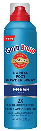 Gold Bond No Mess Foot Powder Spray, 7 oz