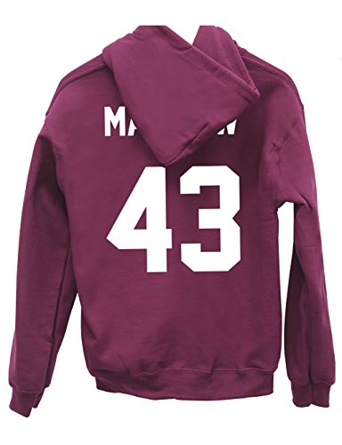 Hippowarehouse Manilow 43 (Printed ON The Back) Unisex Hoodie Hooded top