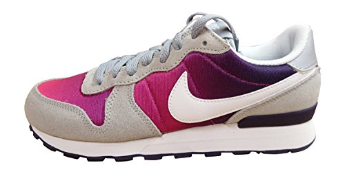 Nike Mädchen Internationalist (GS) Turnschuhe, Gris (Wolf Grey/White-Purple Dynasty), 37.5 EU (Nike-internationalist-turnschuhe)