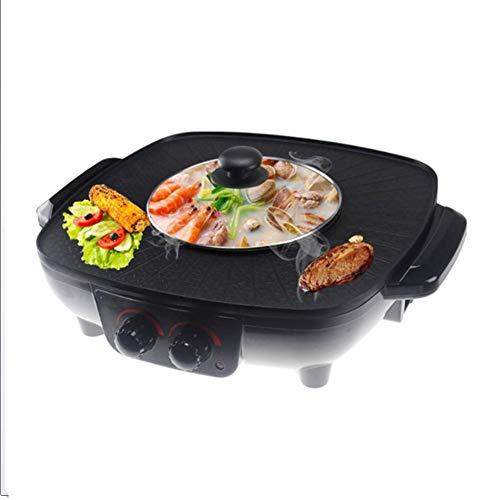 Propan-gas-tisch-heizung (Lcxligang Barbecue Hot Pot, Elektrogrill Gesunde Beschichtung Rauchfrei und Antihaft-Elektrogrill Elektrische Backform (Color : Black))