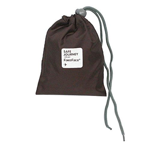 BXT 4 Pcs Aufbewahrungstasche Nylon Drawstring Reisentaschen Geschäftsreise Familie Reisen Wasserdichte Beutel Schuh Beutel Organisator Lagerbeutel Spielraum Speicher von 4 Größe Braun