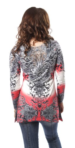 Innocent Top SARA TOP RED TRIBAL Red