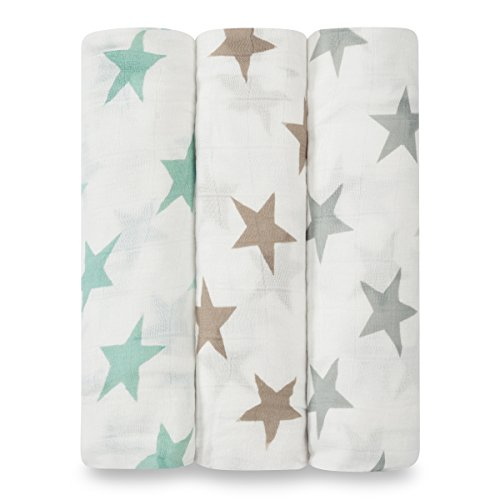 aden + anais 9207G Silky Soft Swaddles Milky Way, 3er pack