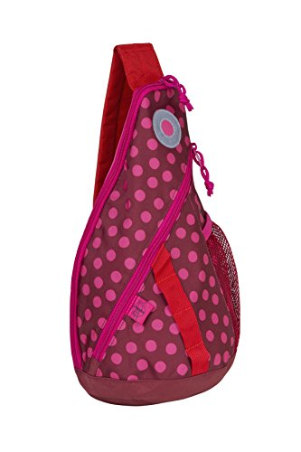 Lässig 4Kids - Zainetto sportivo con stringhe, piccolo, Multicolore (Dino Slate), 37 cm Dottie Red