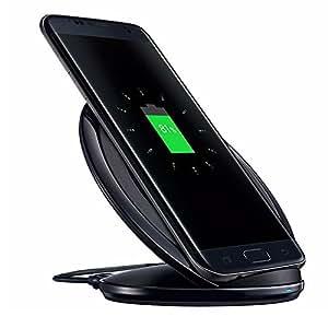 Caricabatterie Wireless, Qi caricabatterie rapido Wireless Charging Pad stand per Samsung S7, S7 Bordo, S6 bordo Inoltre, S8, S8 Inoltre, Galaxy Note 5 e altri dispositivi standard Qi-Enabled - Nero