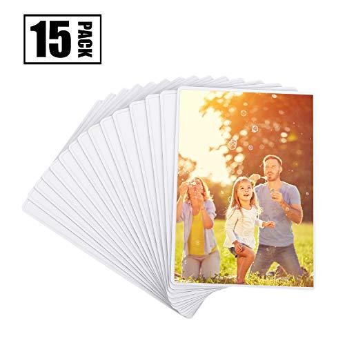 hen, Magiclfy 15 Stück Magnetische Bilderrahmen Fotorahmen für Fotos Postkarten von 10 x 15 cm für Kühlschrank, Weiß ()