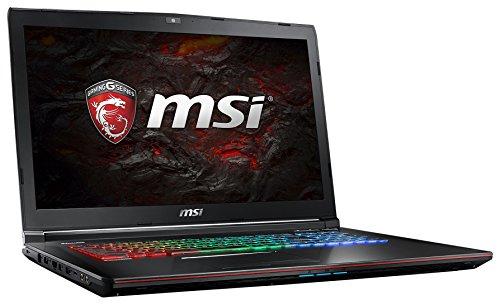 MSI GE72 7RE-049DE Apache Pro (43,94cm/17,3 Zoll) Gaming-Notebook  (Intel Core i7-7700HQ, 16GB RAM, 1 TB HDD + 256 GB SSD, Nvidia GeForce GTX 1050 Ti, Windows 10 Home) schwarz
