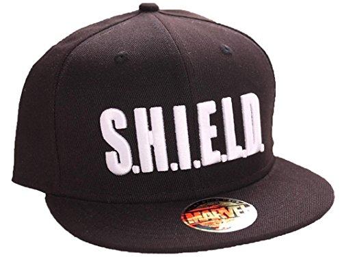Marvel Agents of S.H.I.E.L.D. Logo Snapback Cap (schwarz) (Agent-aufkleber)