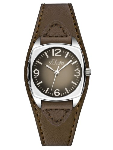 S.Oliver Damenuhr Analog Quarz mit Lederarmband - SO-2791-LQ