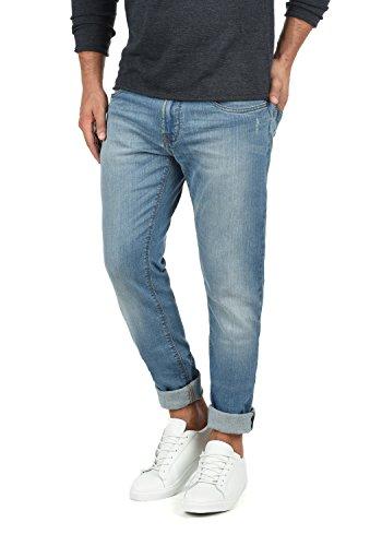 Indicode Quebec Herren Jeans Hose Denim Aus Stretch-Material Regular Fit, Größe:W36/32, Farbe:Blue Wash (1014)