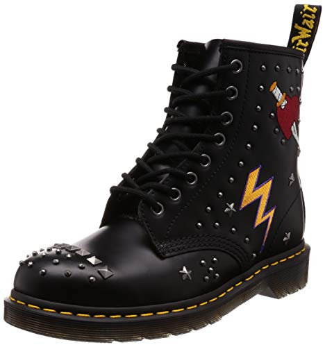 Dr.Martens Unisex 1460 Rockabilly Smooth Leather Black Stivali 36 EU