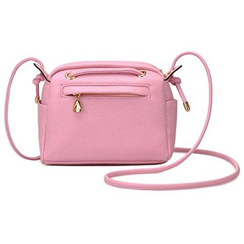 WU Zhi Dame Mini Messenger Bag Packet Drawstring Einfache Schultertasche Handtasche Handtasche Pink
