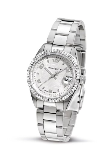Philip Watch - R8253107665 - Caribbean - Montre Femme - Quartz Analogique - Bracelet en Acier Inoxydable Argent