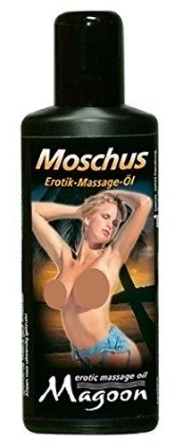 Das wasserlösliche Erotik-Massage-Öl mit Moschus Verführ-Duft. Mit Jojoba-Öl, das Ihre Haut verwöhnt. Abwaschbar. Made in Germany. 100-ml-Flasche / erotische Massagen / Massageöl Moschus / Erotik Massageöl