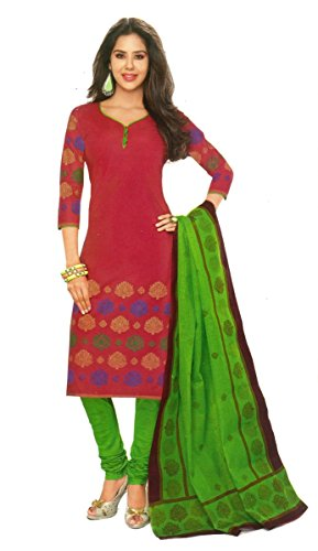 Shree Ganesh Clothing Women Cotton Salwar Suit Dress Material (Sgs- 208 _Pink _Free Size)