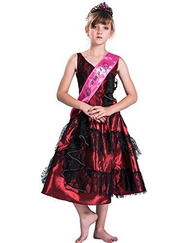 GXYCP Halloween Tanz Drama Prinzessin Kleid Mädchen Cosplay Kostüm Weihnachten Bühnenkostüme Kinder Tageskleider,150