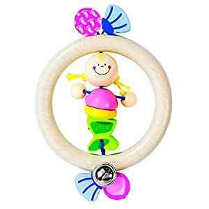 Heimess 734870 Wooden Ring Rattle (Mermaid)