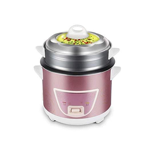 JINZHENGYAOYE Automatischer Mini-Antihaft-Reiskocher mit Mehreren Funktionen, Dampfgarer, Eintopf, Suppenteller-Einknopfbedienung, Reiskocher aus Edelstahl, Schnellkochtopf-Edelstahl, Elektrokocher