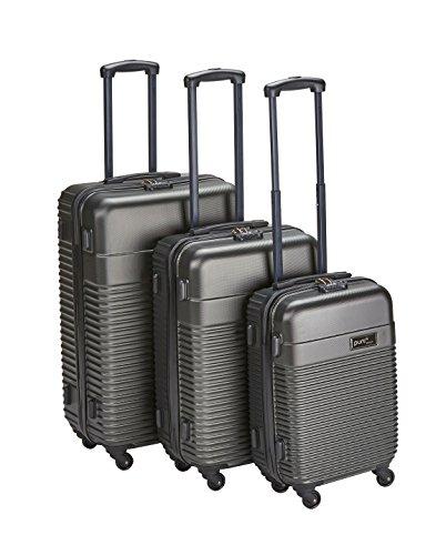 PURE Koffer CLASSIC / Koffer-Set / Reisegepäck / Hartschale / Handgepäck / Kofferset / Koffer mit 4 Rollen / Trolley / ABS / Zahlenschloss (anthrazit, Set)