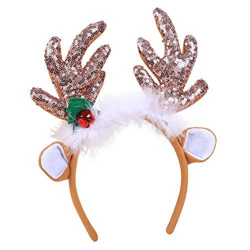 Weihnachten Kostüm Rentier - De feuilles Weihnachten Kinder Erwachsene Stirnband Rentier Haarreif Weihnachten Weihnachtsmütze Kopfbedeckung Kostüm Geschenk
