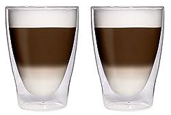 Filosa 2X 280ml XL doppelwandige Latte Macchiato-Gläser/Cocktailgläser/Eistee-Gläser/Saft- und Wassergläser - 2X 280ml edle Thermogläser mit Schwebeeffekt von Feelino