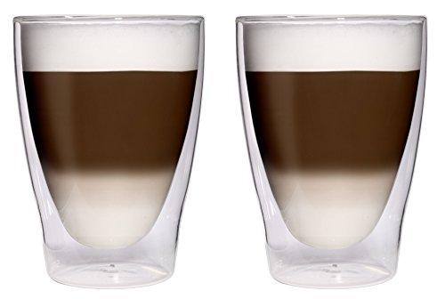 AKTION: 2x 280ml XL doppelwandige Latte Macchiato-Gläser / Cocktailgläser / Eistee-Gläser / Saft-...