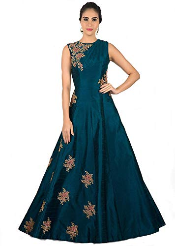Ethnic Vila taffeta Silk Embroidered Semi-Stitched Anarkali Gown | womens party wear | Today preminum new gowns | new design collection 2018 | new design dress