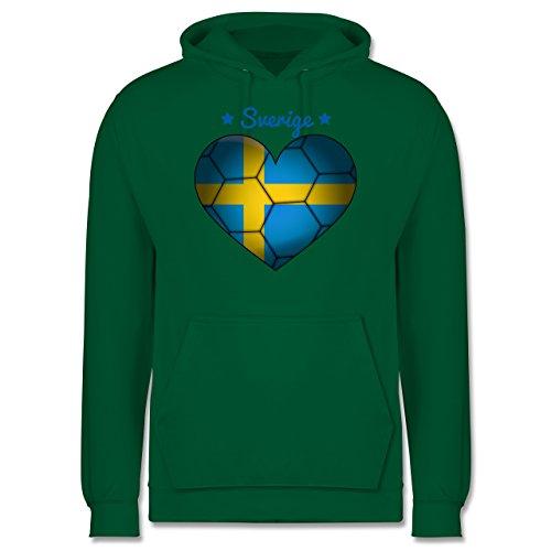 Handball - Handballherz Schweden - Männer Premium Kapuzenpullover / Hoodie Grün