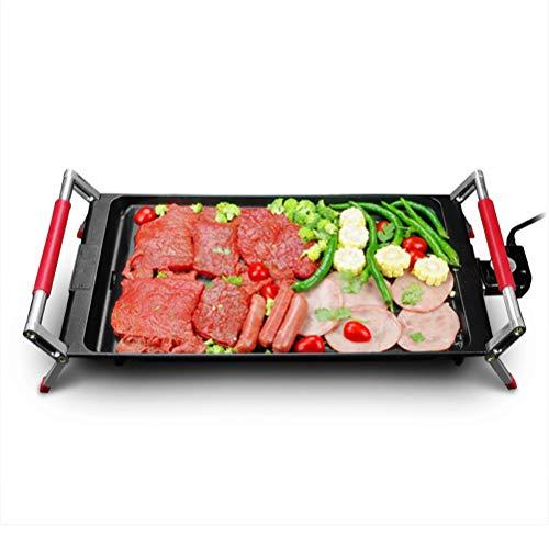 SCFUK Teppanyaki Grill, BBQ Home Desktop Elektrische Grillplatte Antihaft Platte Kochen Rauchfreie Elektrische Grill, Große Eisenplatte Grill (42 * 23 * 9 cm)