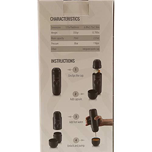 Wacaco Minipresso NS, Machine à Expresso Portable, Compatibles Capsules NS(Capsules Nespresso d'origine et compatibles), Cafetière de Voyage, Actionnée Manuellement, Pas de Fonction de Chauffage