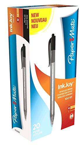 papermate-inkjoy-100-scatto-s0957030-penna-a-sfera-confezione-da-20-nero