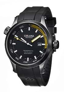 Golana Aqua Pro Black Swiss Made Divers Men's Watch AQ140-3