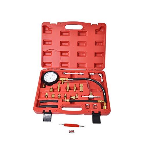 LIOOBO Einspritzdruckanzeiger-Set Universal-Einspritzdruckprüfsatz Kraftstoffzähler Kraftstoffanzeige