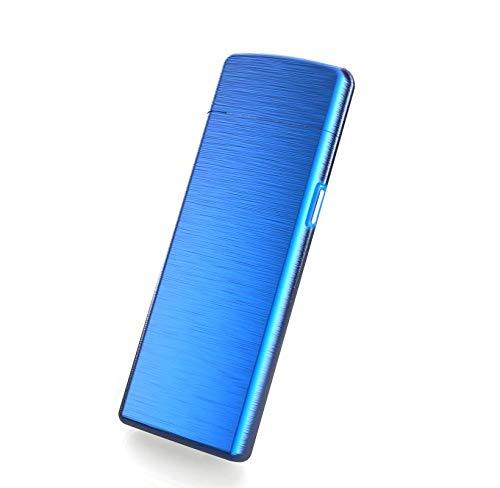 Elektrisches Feuerzeug usb aufladbar Feuerzeug ohne Feuer. &Oumlkologisch, Ohne Gas, die pr&eacutemium Qualit&aumlt. Anti Wind Feuerzeug sehr eleganter ultrafeinem (Blau)